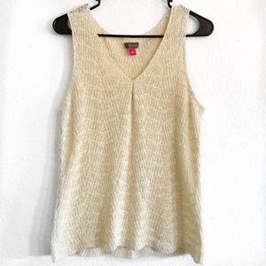 Vince Camuto Shell Stitch Sweater Tank